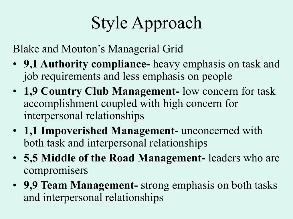 Style Approach