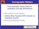 demography matters