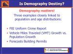 is demography destiny