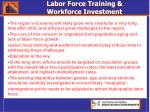 labor force training workforce investment