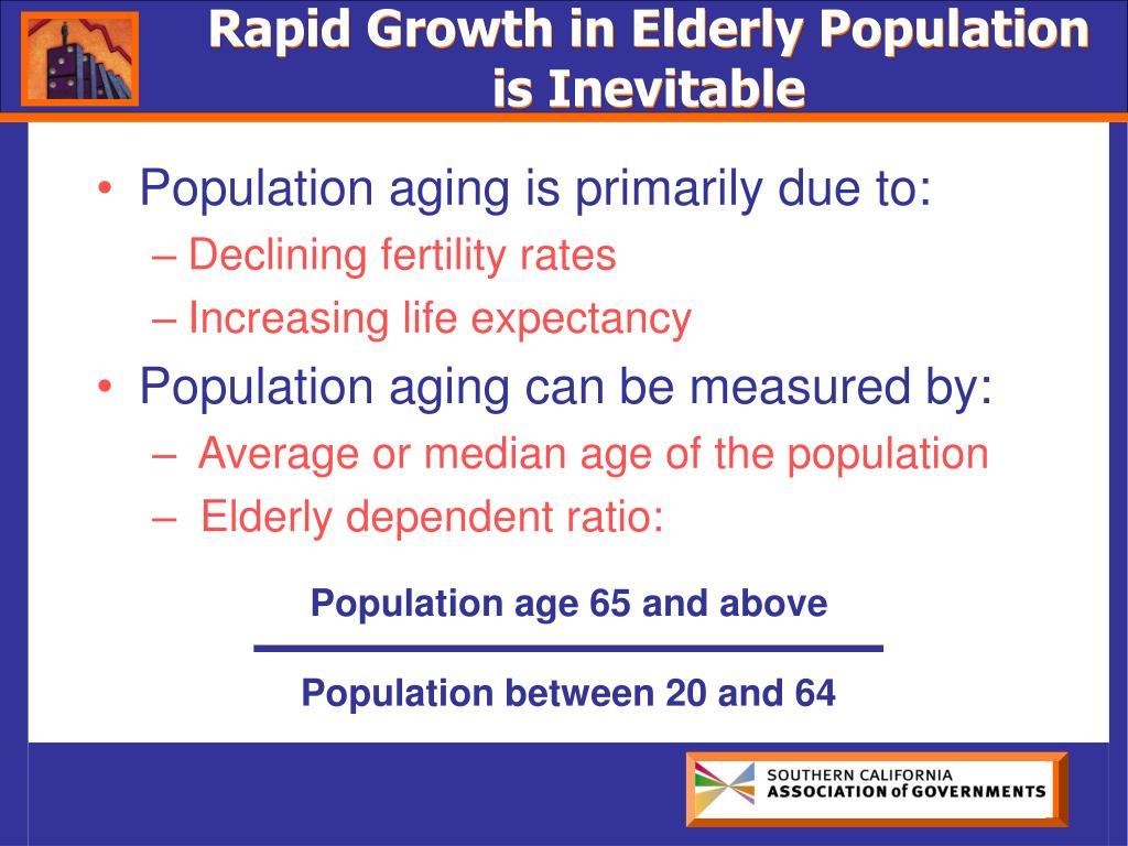 Rapid Growth in Elderly Population is Inevitable