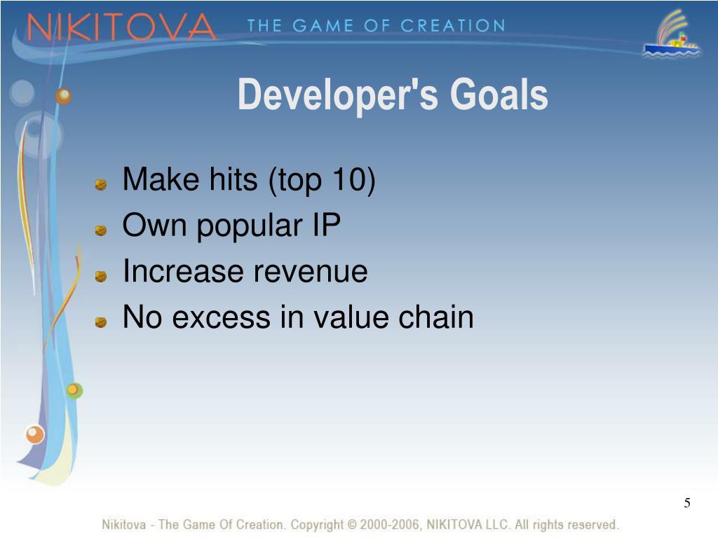 Developer's Goals
