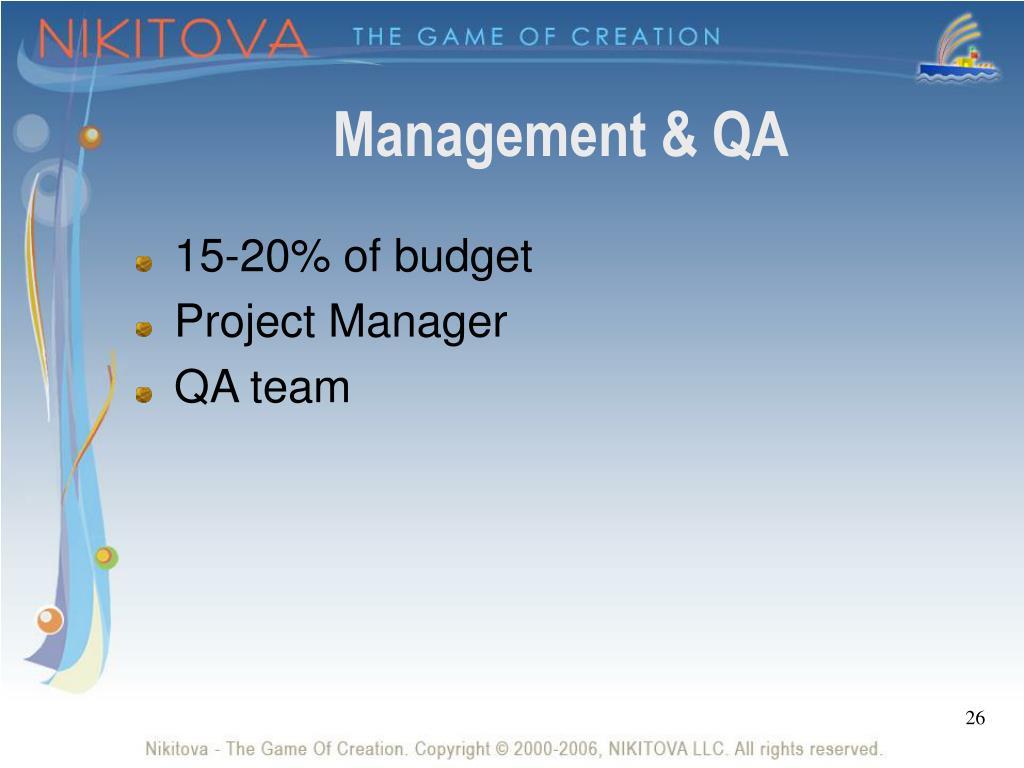 Management & QA