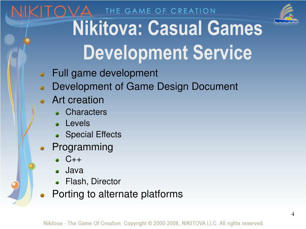 Nikitova: Casual Games Development Service