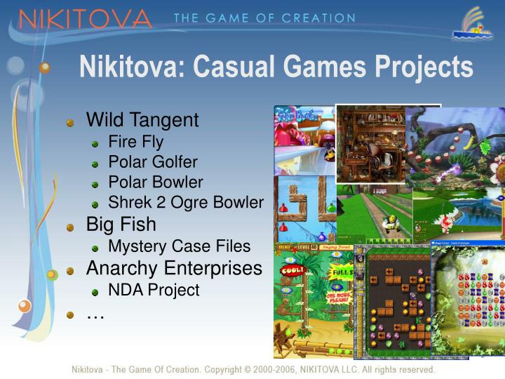 Nikitova casual games projects