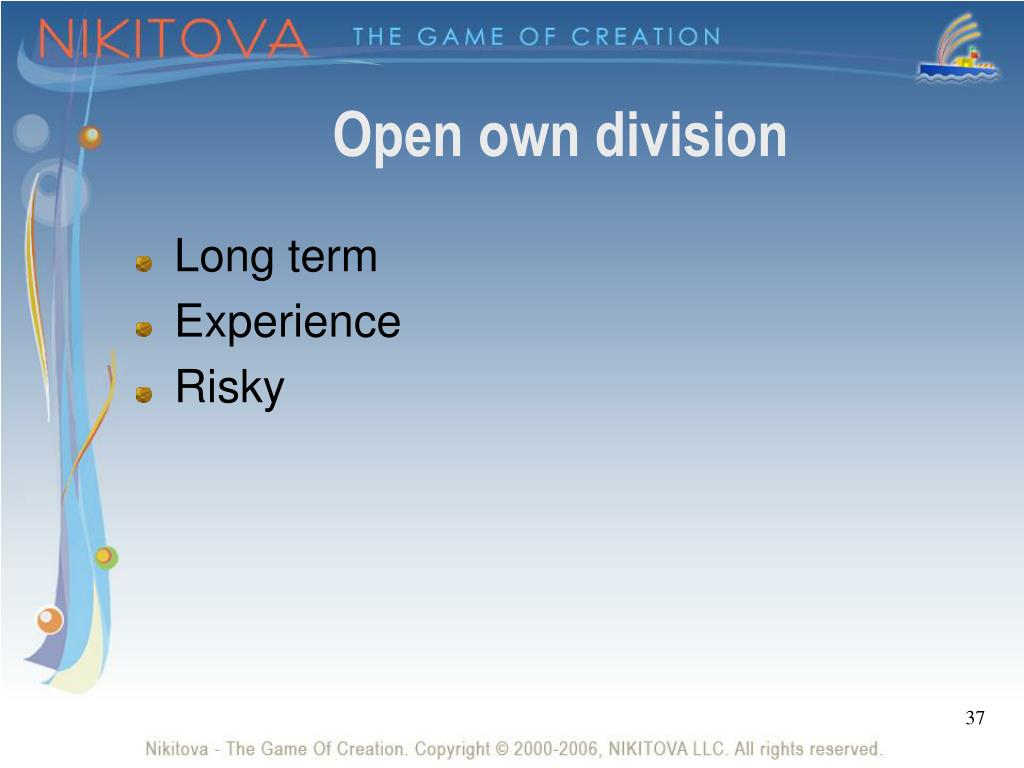Open own division