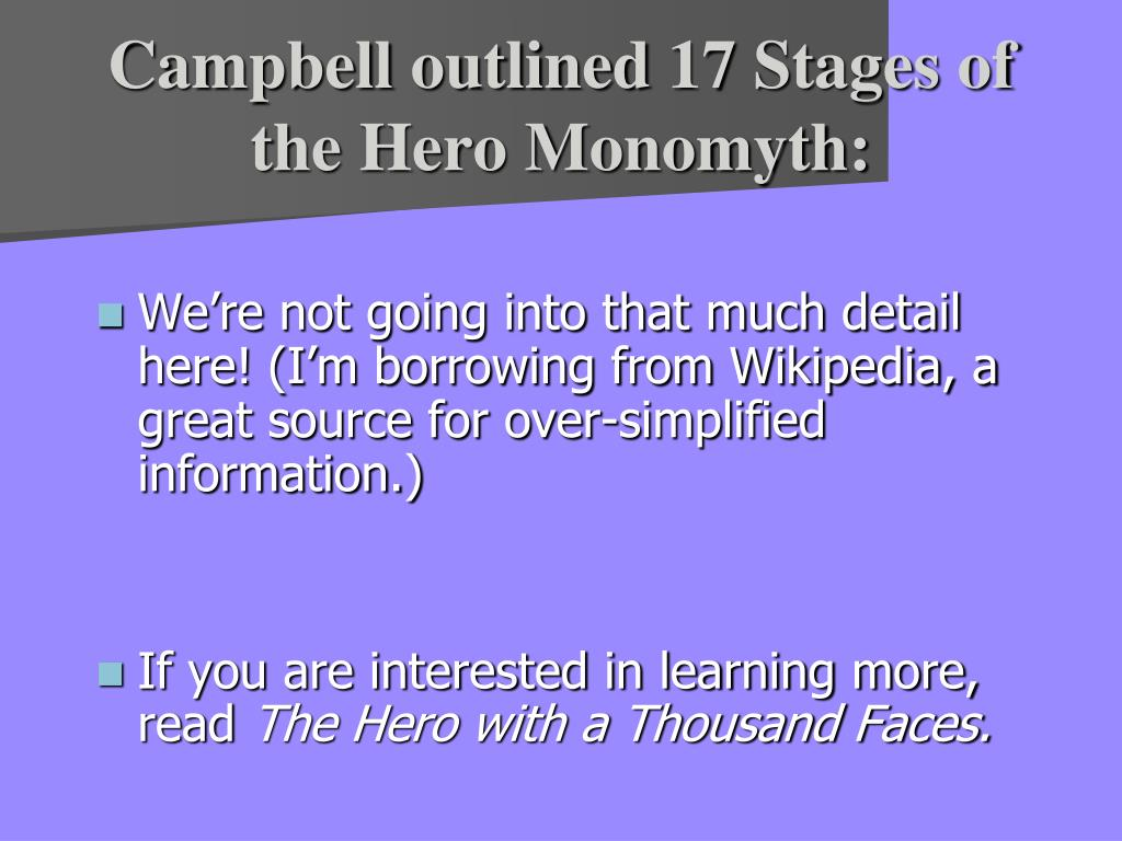 stages of a hero Printable solar cells mar 3, 2011 the hero's journey is an archetypal path of individual transformation it is a map that shows the stages of our personal process of.