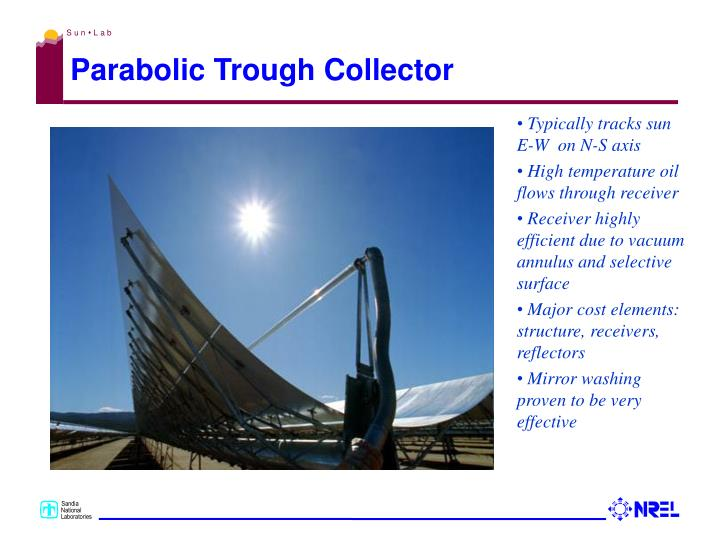 Parabolic trough collector