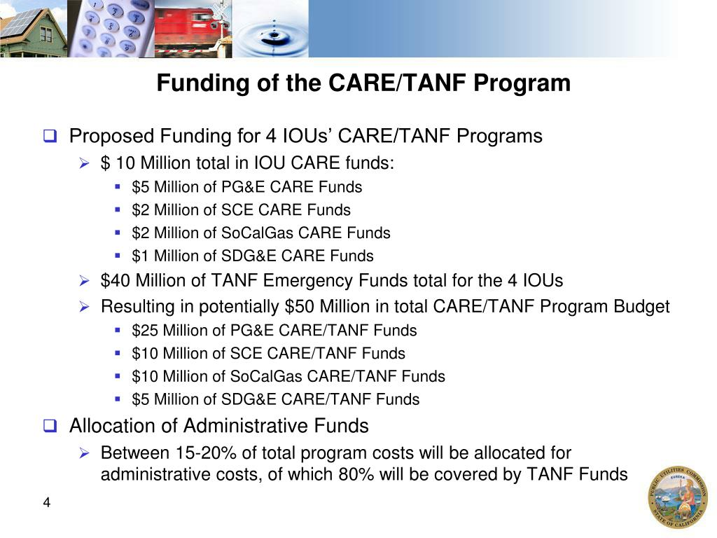 Funding of the CARE/TANF Program