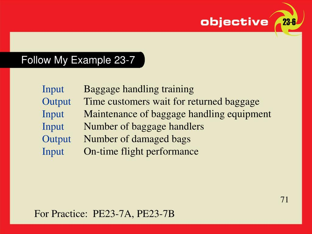 Follow My Example 23-7