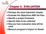 chapter 4 evaluation