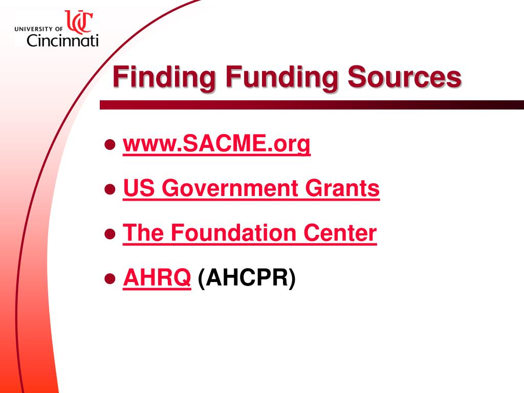 Finding Funding Sources