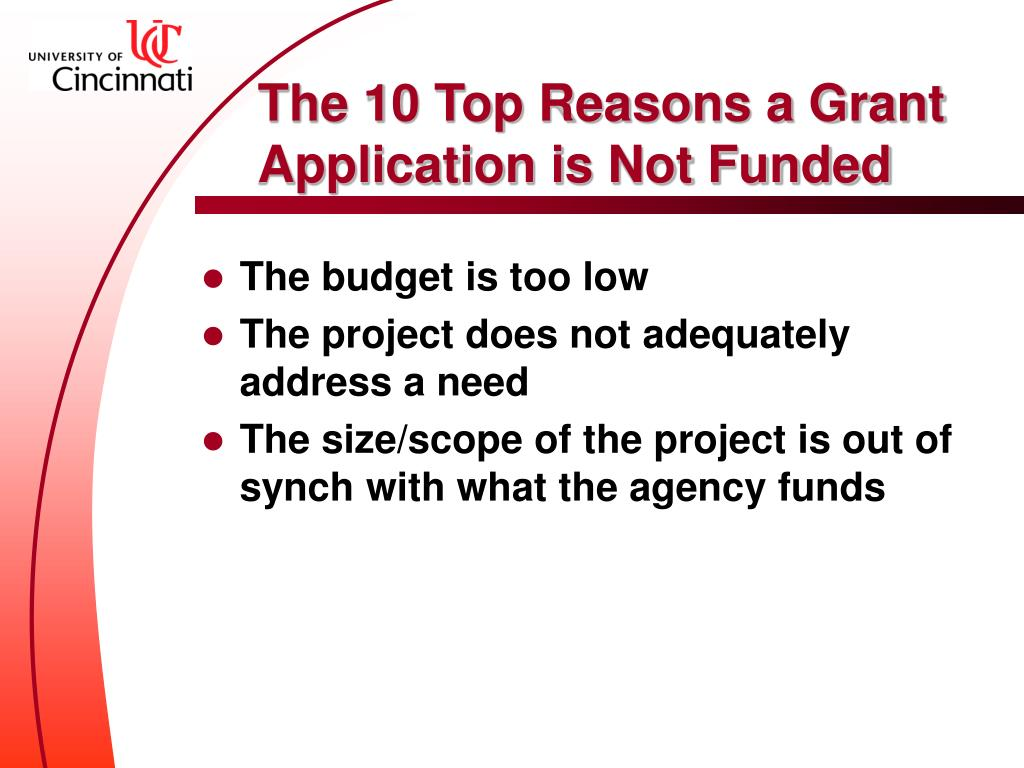 The 10 Top Reasons a Grant Application is Not Funded