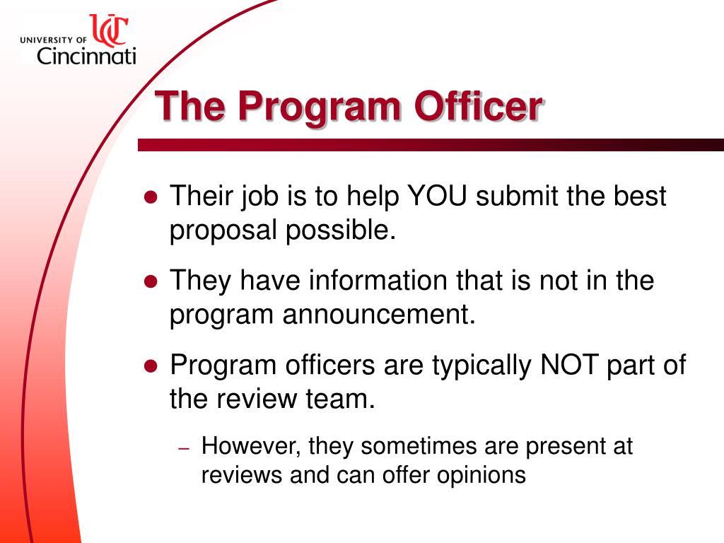 The Program Officer