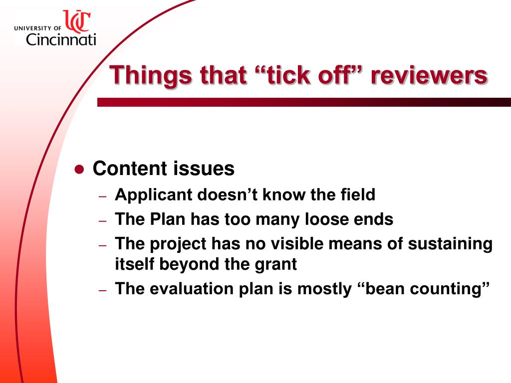 """Things that """"tick off"""" reviewers"""
