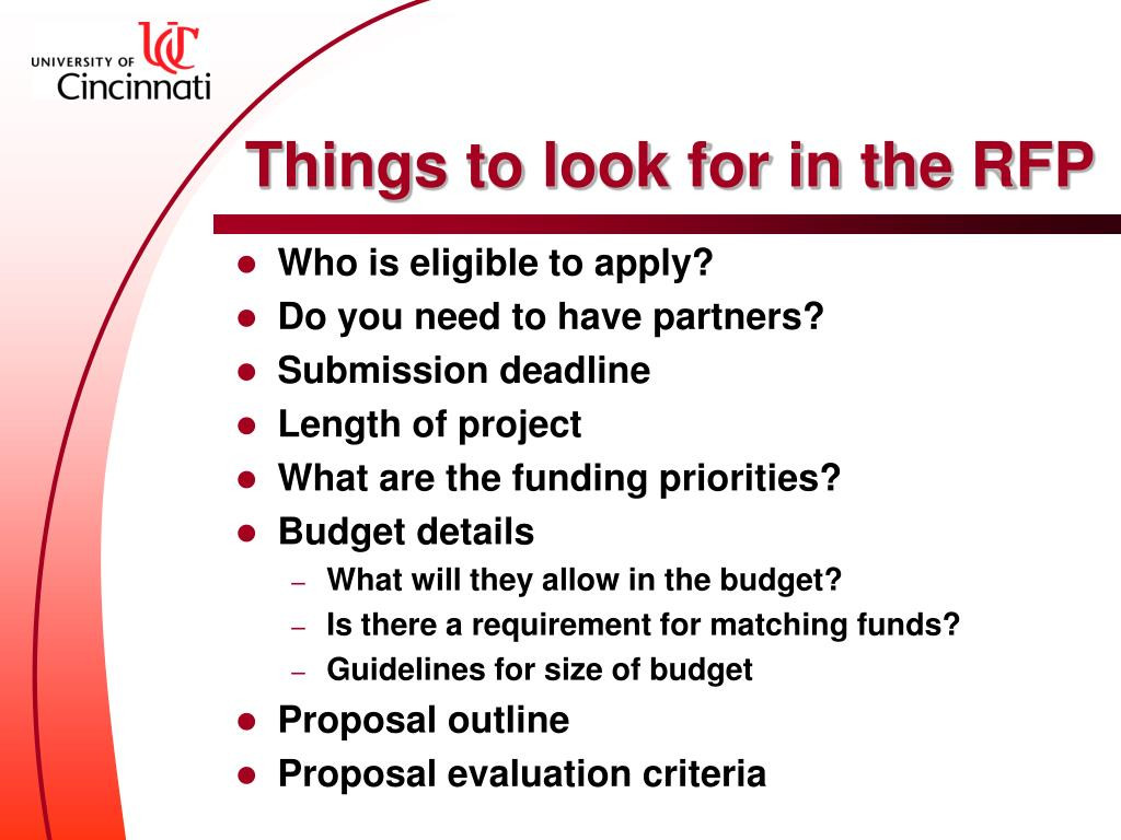 Things to look for in the RFP