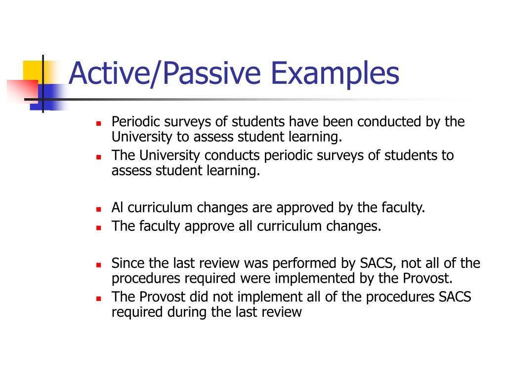Active/Passive Examples