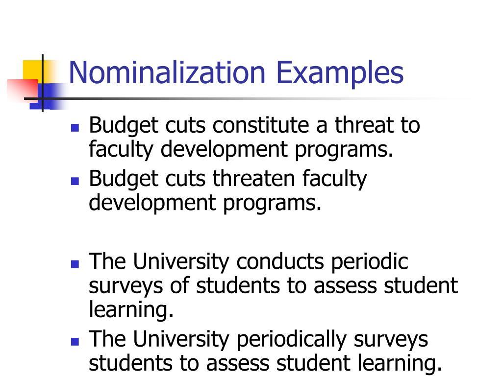 Nominalization Examples