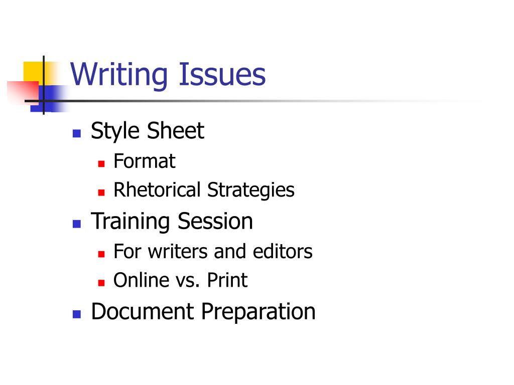 Writing Issues