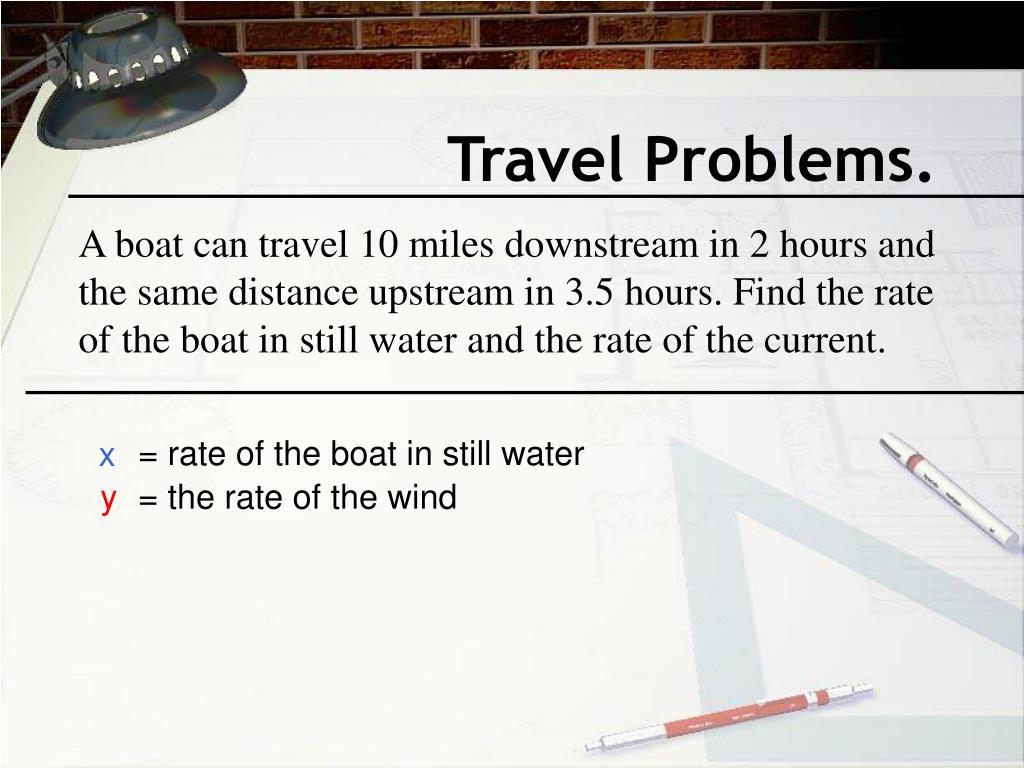 Travel Problems.