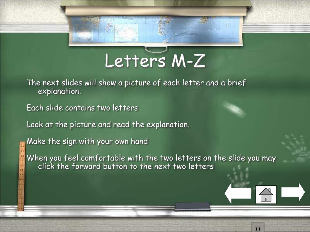 Letters M-Z