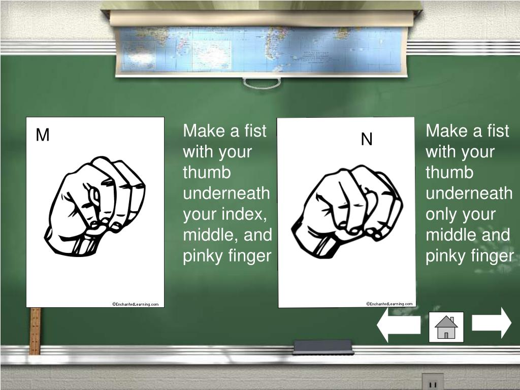 Make a fist with your thumb underneath your index, middle, and pinky finger