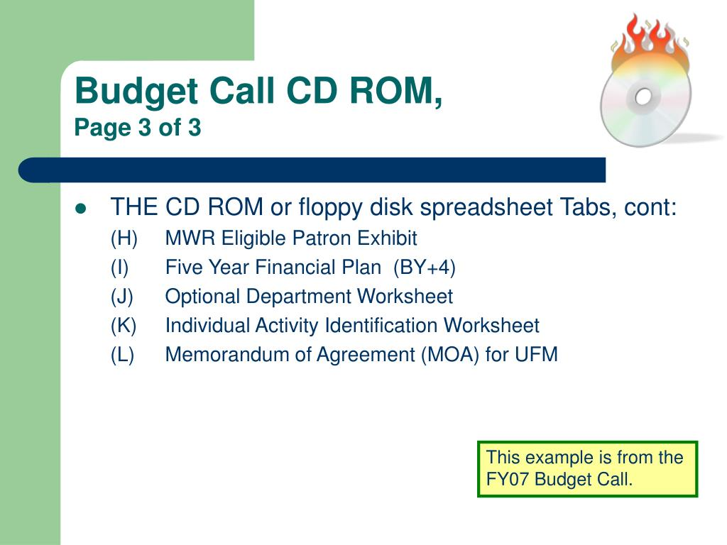 Budget Call CD ROM,