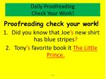 daily proofreading check your work