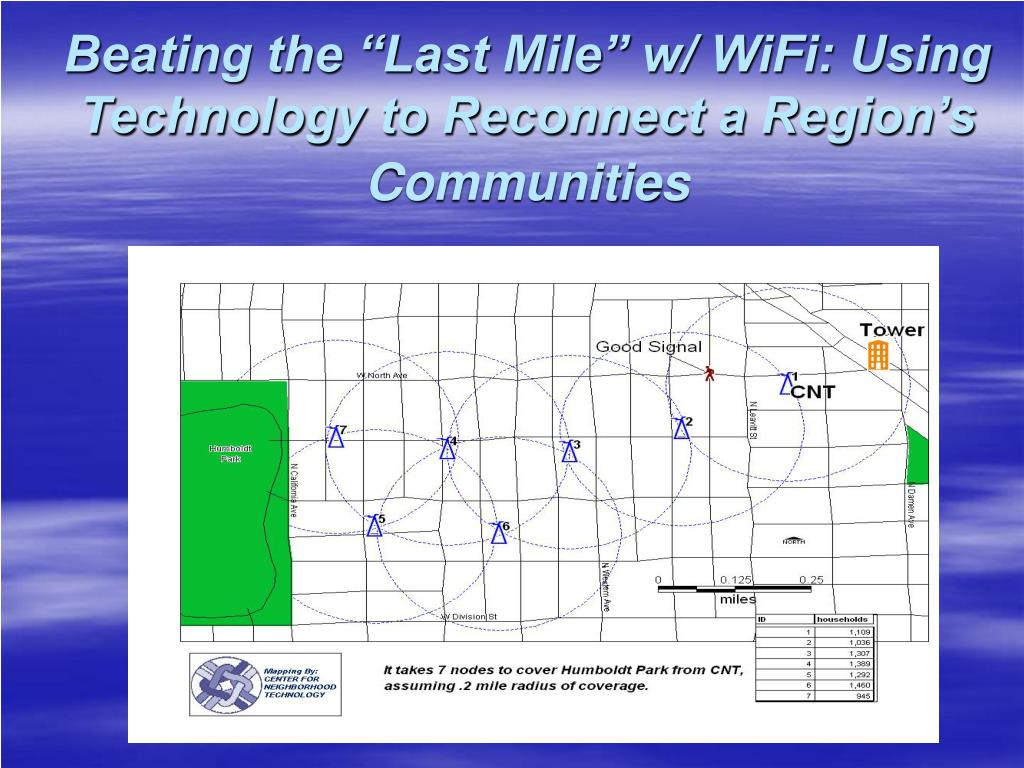 "Beating the ""Last Mile"" w/ WiFi: Using Technology to Reconnect a Region's Communities"