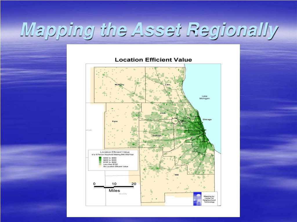 Mapping the Asset Regionally