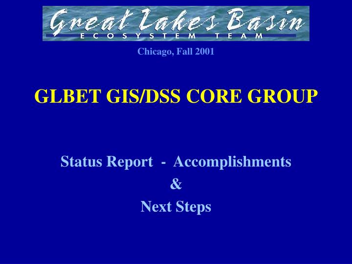 Glbet gis dss core group