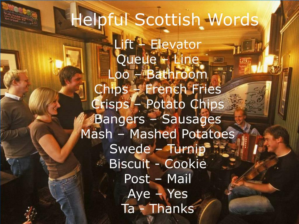 Helpful Scottish Words