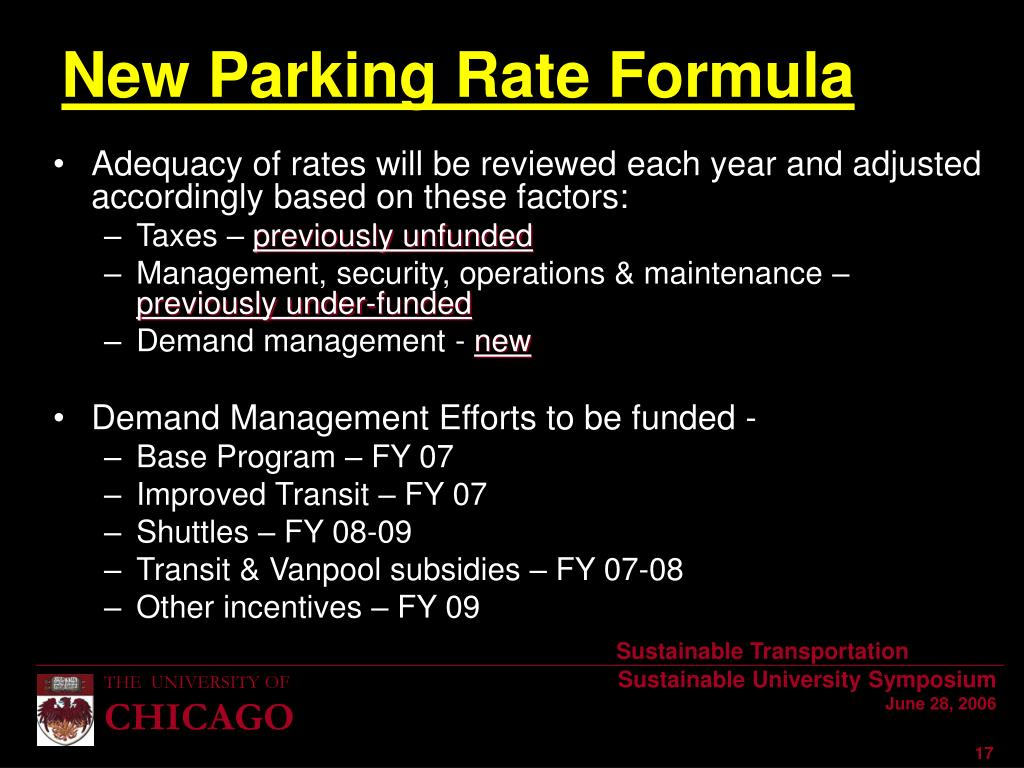 Adequacy of rates will be reviewed each year and adjusted accordingly based on these factors: