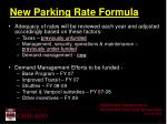 new parking rate formula