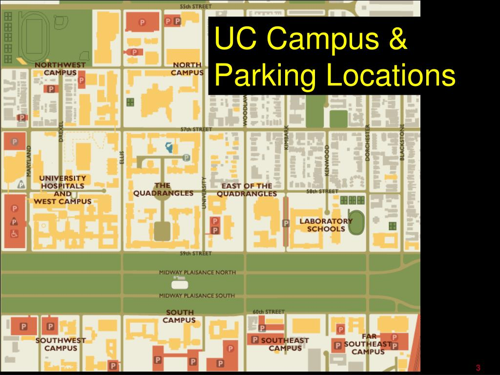 UC Campus & Parking Locations