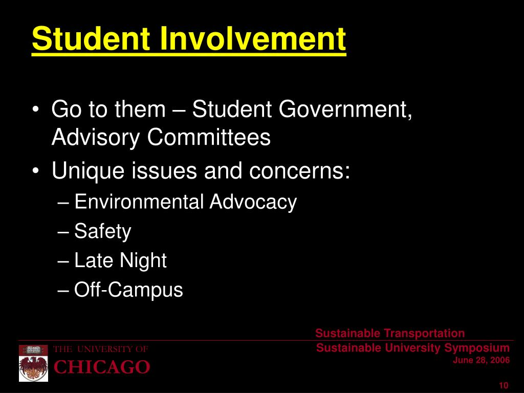 Go to them – Student Government, Advisory Committees