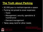 the truth about parking