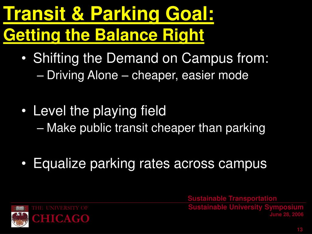 Shifting the Demand on Campus from: