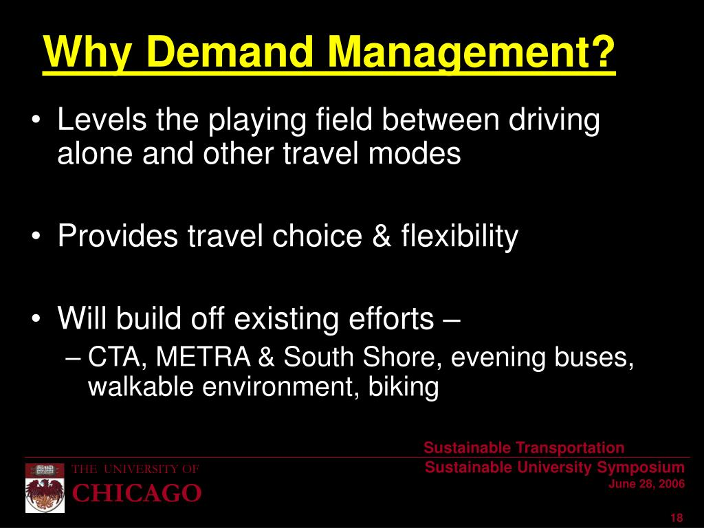 Levels the playing field between driving alone and other travel modes