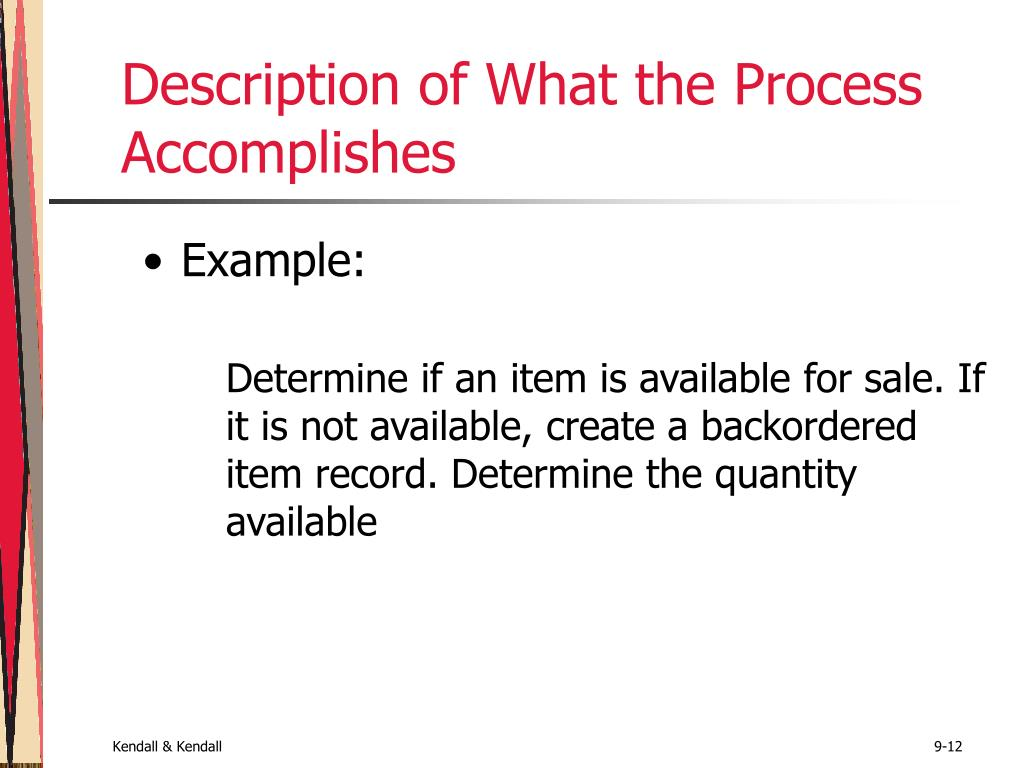 Description of What the Process Accomplishes
