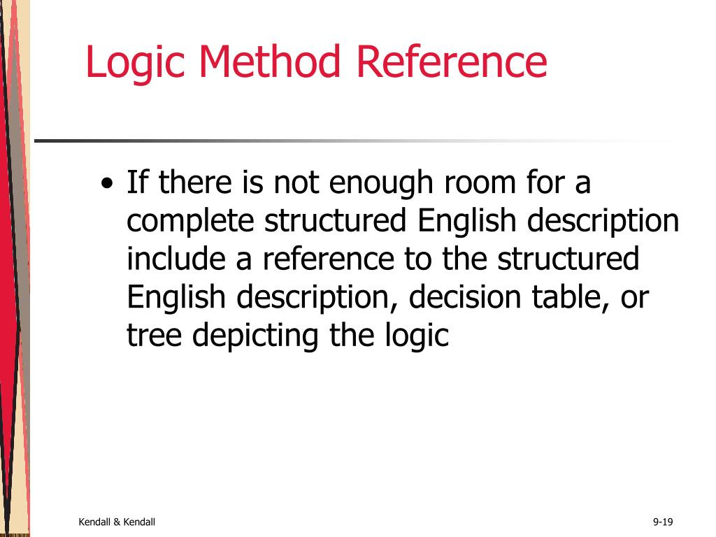 Logic Method Reference