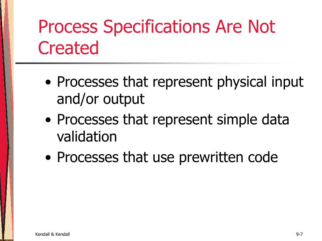 Process Specifications Are Not Created