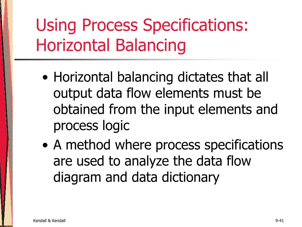 Using Process Specifications: Horizontal Balancing