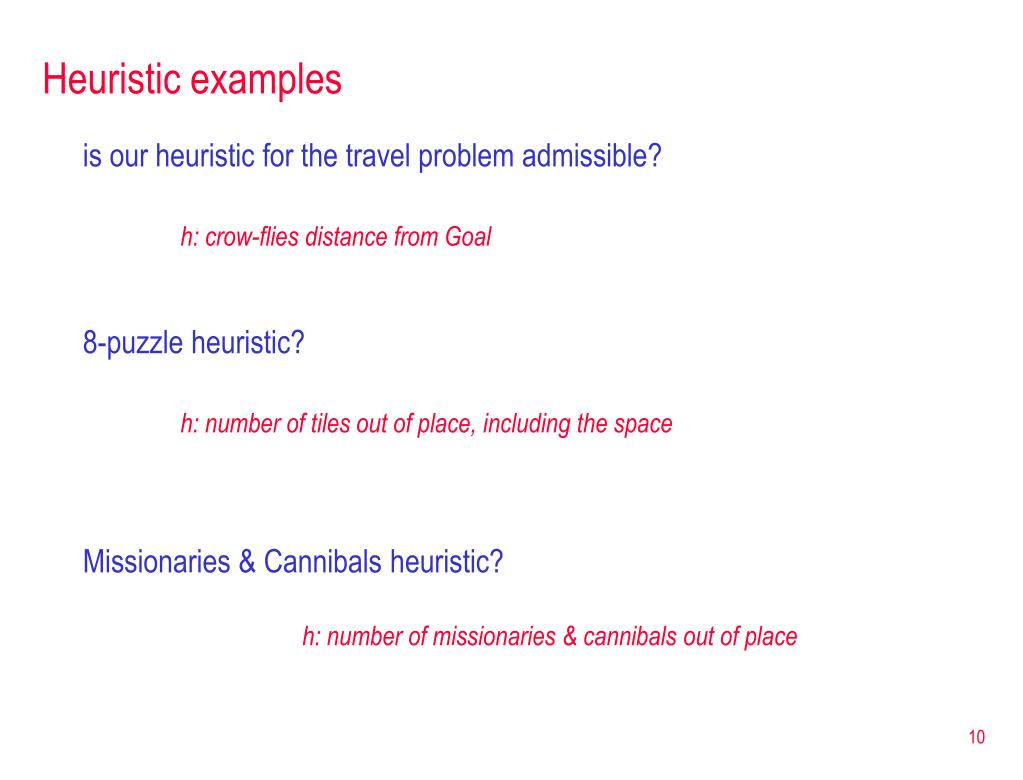 Heuristic examples
