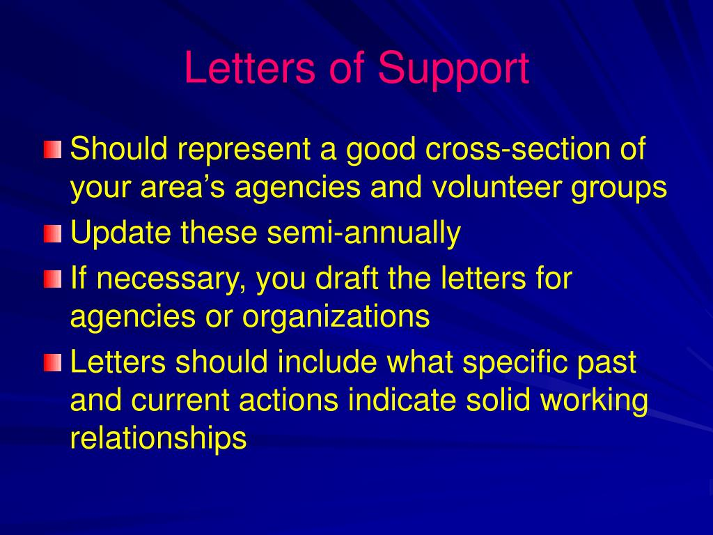Letters of Support
