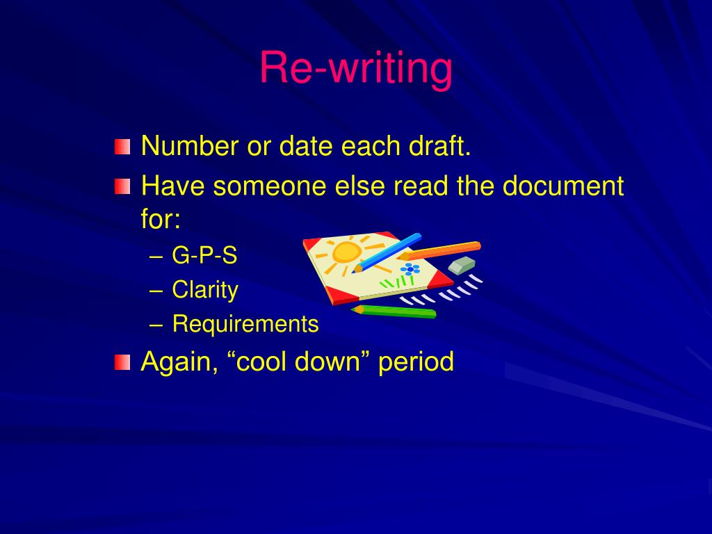 Re-writing