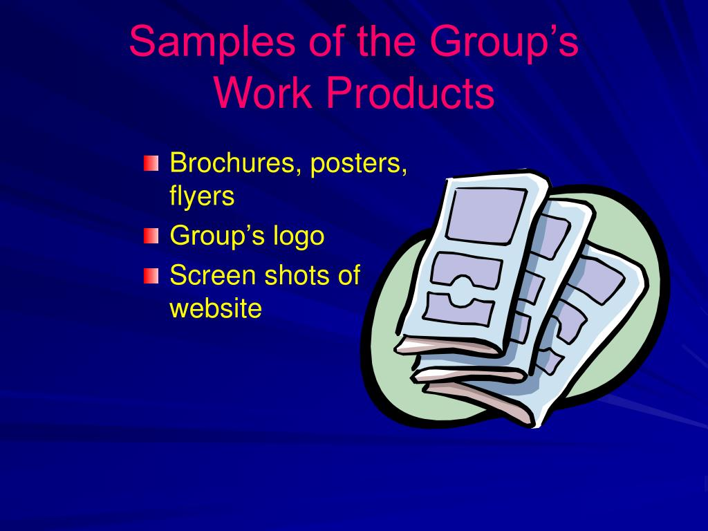 Samples of the Group's