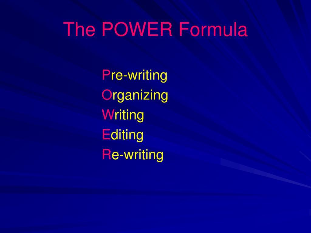 The POWER Formula