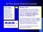 ad hoc group request example