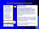 aircraft downgauge example